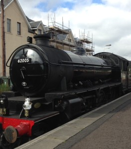 The Highland Steam Train made famous in Harry Potter fims